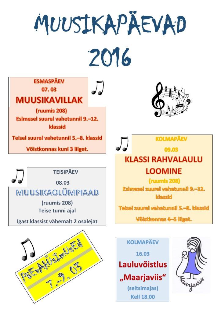 Muusikapäevad 2016